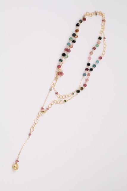 Tourmaline Lariat Y Necklace