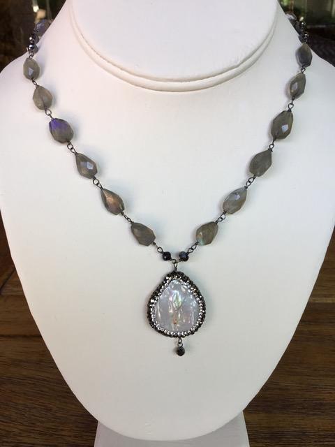 Labradorite and Hematite Gemstones